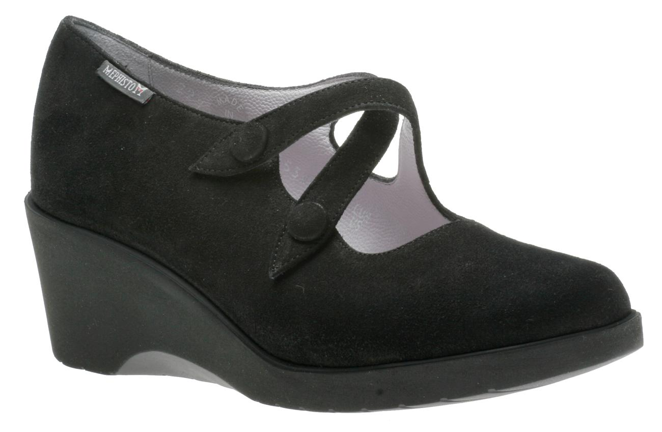 Mephisto Violette Sandals Black Waxy for Women - Shoes