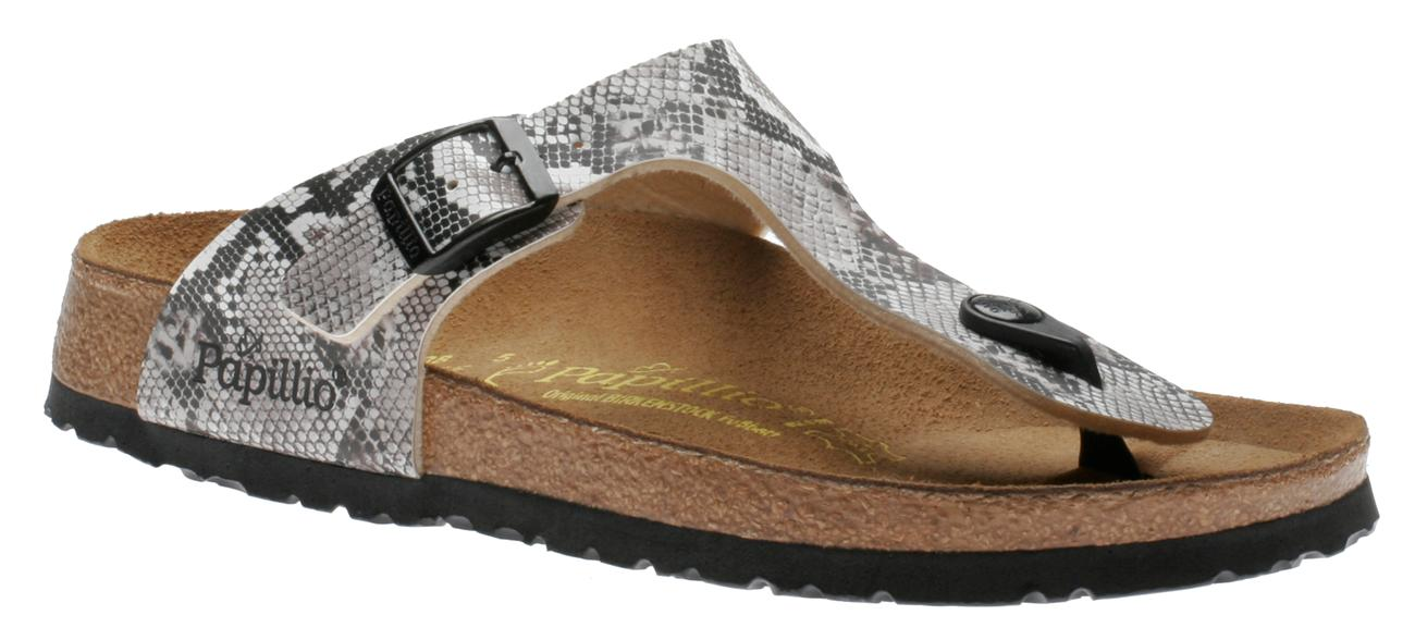Birkenstock Gizeh Snake Brown 268551 Women's Toe Thong Shoes ...