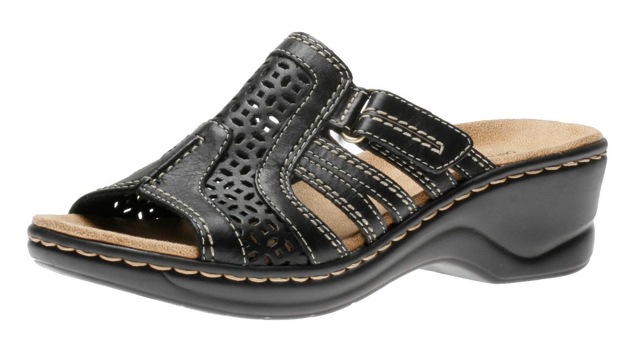 Fantastic Clarks U2018Ella Chorusu2019 Leather Sandals Wide (Size 9 ) For Women | Cofov